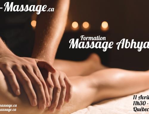 De retour à Québec! Massage Abhyanga!